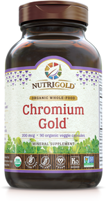 Chromium Gold - 200 mcg (Organic, Whole-food, Plant-based) (1242127040555)