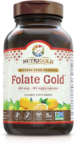 Folate Gold - 800 mcg (Organic, Whole-food, Plant-based) (1241956646955)