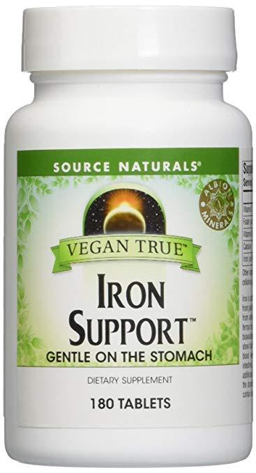 Vegan True  Iron Support 180tabs (1598780768299)