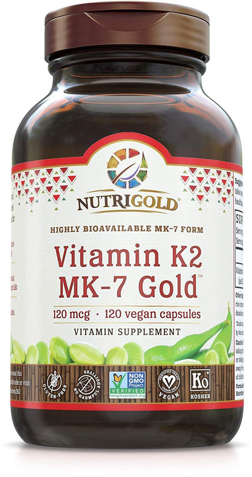 Vitamin K2 Gold - 120 mcg (Fermented MK-7, Food-Based)