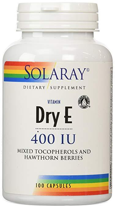 Dry Vitamin E-400 w/ Hawthorn Berries 100ct Cap
