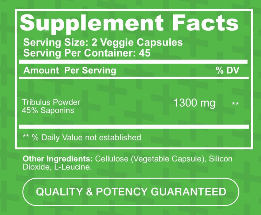 Tribulus 1300mg 90caps (1389990707243)