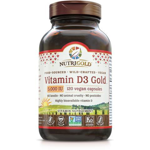 Vitamin D3 Gold - 5,000 IU *New* vegan capsules (1242023264299)