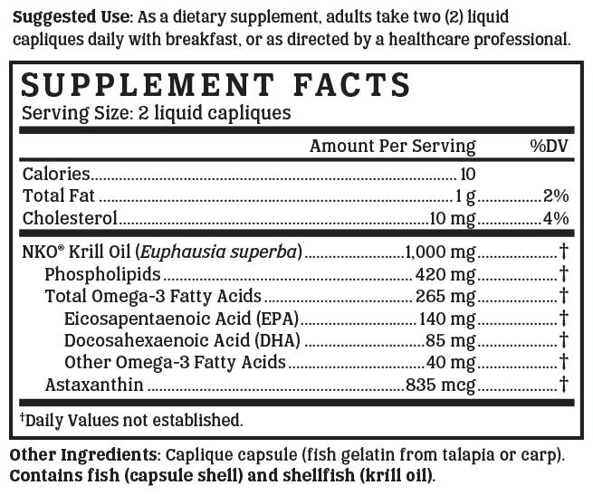 Krill Oil Gold - 500 mg     (Clinically proven NKO®, Certified sustainable by FTS®)