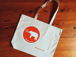 THE ELEPHANT MEMBER'S TOTE BAG***