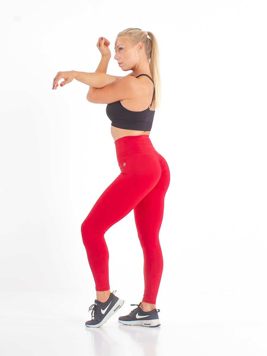 Red Scrunch - fitnessvaatteet