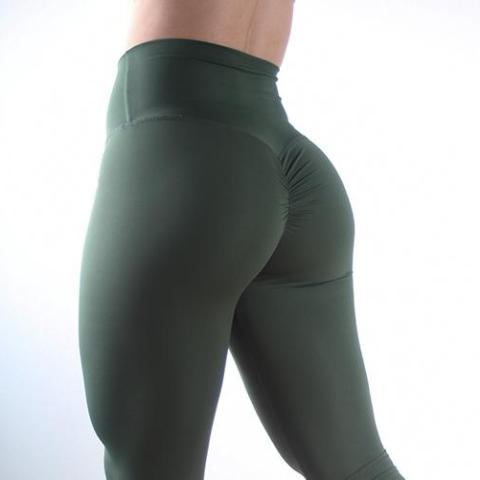 Army Green Scrunch - fitnessvaatteet