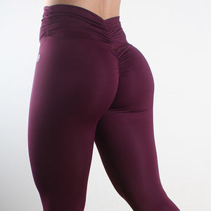 Scrunch Me Up Eggplant - fitnessvaatteet