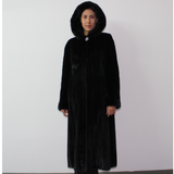 Black mink coat