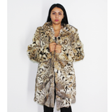 Lynx pieces coat with hood
