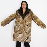 Lynx pieces coat with fisher collar
