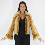 Tabaco mink pieces jacket