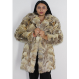 OMIKRON Crystal fox pieces (pat) coat