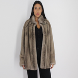 Silver grey mink jacket