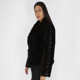 Ranch shaved mink pat jacket
