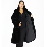 Black mink with hood
