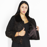 Astrakhan black-brown jacket