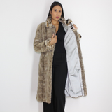 Silver Grey mink coat with lynx trimming