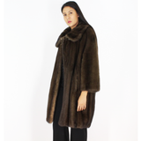 Demi-buff mink coat
