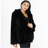 ITA Blackglama mink jacket with hood