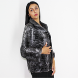 Astrakhan grey anthracite jacket