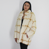 Colored knitted mink jacket