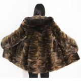 Sable pieces ¾ coat with hood