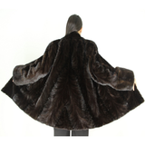 Ranch mink pat jacket with mink trimming