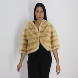 Golden mink bolero