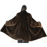 Ranch shaved mink pieces 3/4 coat