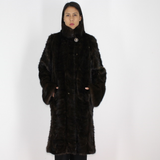 Ranch with white stigmas mink pieces coat