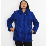 Astrakhan Colored blue-electric jacket