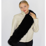 Black colored fox stole/scarf
