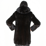 Blackglama mink jacket with hood
