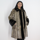 Libya cat coat with mink trimming