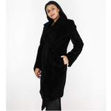 Black colored shaved nutria coat
