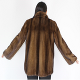 Demi-buff mink jacket