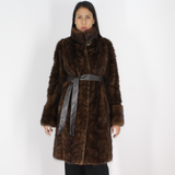 Demi-buff mink pat coat