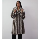 Black-cross mink coat