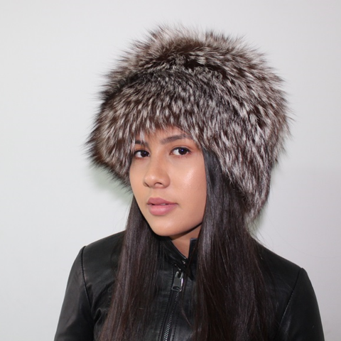 Black Silver fox hat
