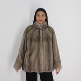 EPSILON Silver grey mink jacket