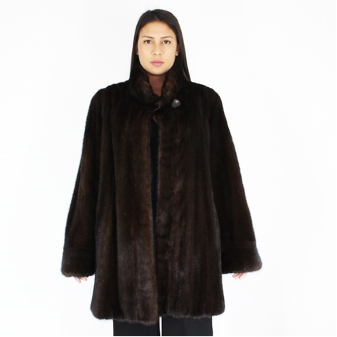 Ranch mink ¾ coat