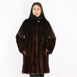Demi-buff mink ¾ coat