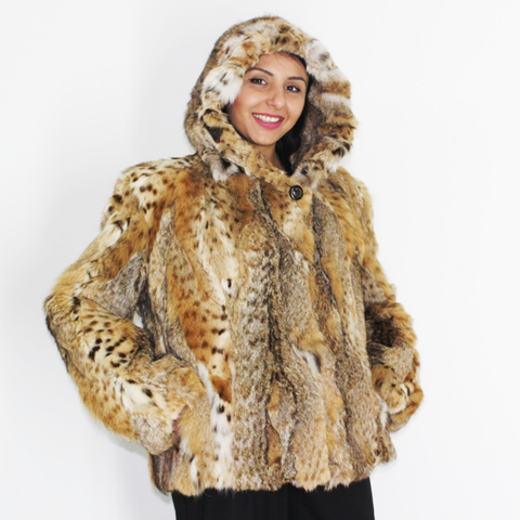 Lynx pieces jacket with hood