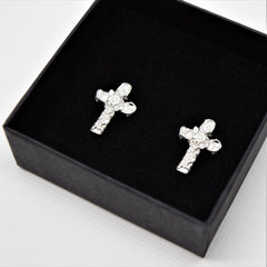 Bam Margera Thorned Cross Earrings - Bam Margera Merchandise