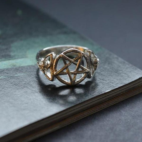 Bam Margera x Curaline Pentagram Rose Ring