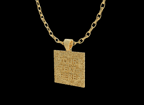 Bam Margera Gold Custom Text Pendant - Bam Margera Merchandise