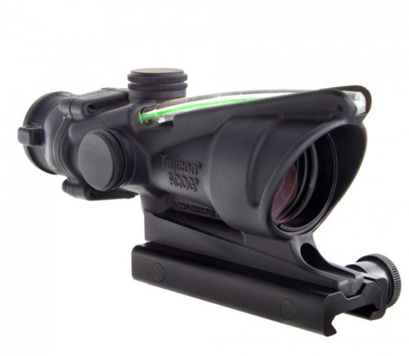 Trijicon - ACOG 4x32 Scope, Dual Illuminated Green Chevron .223 Ballistic Reticle