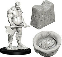 WizKids Deep Cuts Unpainted Minis: W6 Executioner & Chopping Block