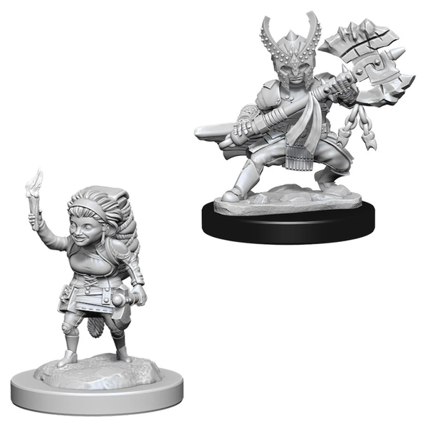 D&D Nolzur's Marvelous Unpainted Minis: W6 Female Halfling Fighters